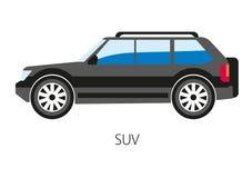 Vector illustration of sport suburban utility vehicle light truck Stock Image