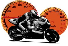 Vector illustration Sport superbike motorcycle with struments royalty free illustration