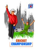 Sports background for the match of Cricket Championship Tournament. Vector illustration of Sports background for the match of Cricket Championship Tournament royalty free illustration