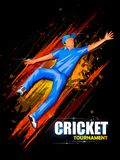 Sports background for the match of Cricket Championship Tournament Stock Photo