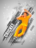 Sports background for the match of Cricket Championship Tournament Royalty Free Stock Images