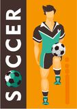 Soccer player poster Royalty Free Stock Image