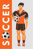 Soccer player poster Stock Photography