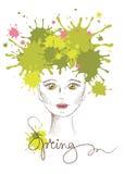 Vector illustration -- spring girl Royalty Free Stock Photo