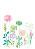 Vector illustration spring themes. Set of colour plants royalty free illustration