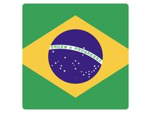 Square Flag of Brasil. Vector illustration of the Square Flag of Brasil royalty free illustration