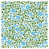 Vector illustration of square made with floral elements. Stock Images