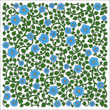 Vector illustration of square made with floral elements. Royalty Free Stock Photo