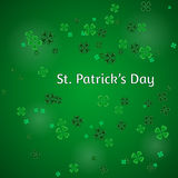 Vector Illustration of a St. Patrick`s Day Background Royalty Free Stock Photos