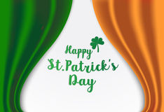 Vector Illustration of a St. Patrick`s Day green  clover leave s Royalty Free Stock Images