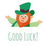 Vector illustration of St. Patrick's day leprechaun Royalty Free Stock Images
