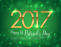 Vector Illustration of a St. Patrick`s Day 2017 text Royalty Free Stock Photography
