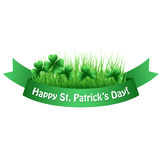 St Patricks Day Green clover banner Royalty Free Stock Photo