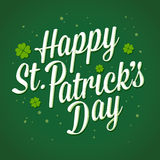 Vector Illustration of St Patricks Day Greetings Stock Photography