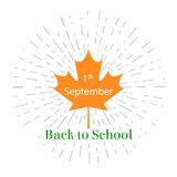 Vector illustration 1st September Day, back to school lettering. Design template for poster, banner, flayer, greeting,invitation c. Ard.Independence day cards Royalty Free Stock Image