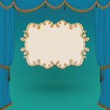 Vector illustration of stage curtains Stock Photos
