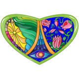 Vector illustration stained glass style Royalty Free Stock Photo