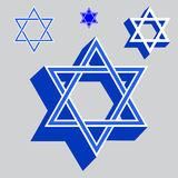 Vector illustration Star of David Royalty Free Stock Images