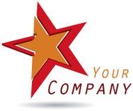 Star logo - vector illustration. Vector illustration of star logo on isolated background - computer generated stock illustration