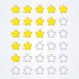 Vector illustration 5 star rating icon isolated badge for website or app. From good to bad vector illustration