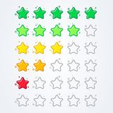 Vector illustration 5 star rating icon isolated badge for website or app. From good to bad royalty free illustration