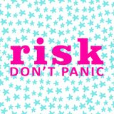 Background. Risk don`t panic card. Motivation royalty free illustration