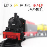 Vector Illustration Of Steam Locomotive. Royalty Free Stock Photo