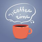 Vector illustration of a steaming cup of coffee. Coffee Time, Classic Style Espresso vector illustration