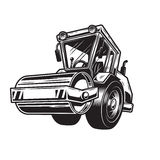 Vector illustration of steamroller Royalty Free Stock Photo