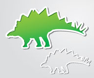 Stegosaurus banner Stock Photography