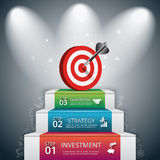 Vector illustration of 3 steps to success. Stock Image