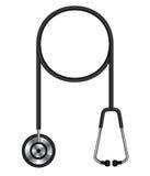 Vector illustration of stethoscope. Isolated on white background Royalty Free Stock Photo