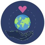 Vector illustration of a Sticker for World Environment Day. vector illustration