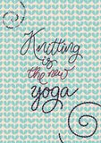 Knitted phrases royalty free illustration