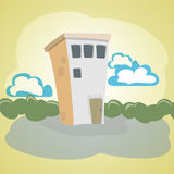 Illustration of a stone house Stock Photography