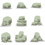 Vector illustration of stone rock set Royalty Free Stock Images