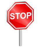 Vector illustration of Stop sign Royalty Free Stock Photos