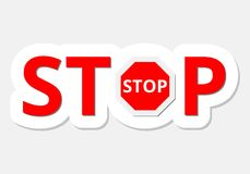 Vector illustration of Stop sign Royalty Free Stock Image