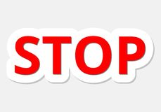 Vector illustration of Stop sign Royalty Free Stock Photo