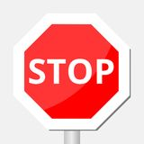 Vector illustration of Stop sign Stock Image