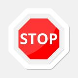 Vector illustration of Stop sign sticker Royalty Free Stock Photography
