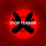 Vector illustration Stop terror Royalty Free Stock Image
