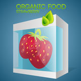 Vector illustration of strawberries in packaged Royalty Free Stock Photo
