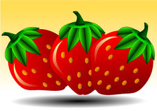 Vector illustration of strawberry Royalty Free Stock Photography
