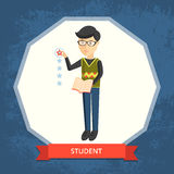 Vector illustration. Student. stock photography