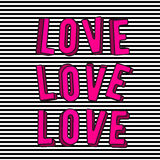 Vector illustration of stylish love 3d pink text sign stock illustration