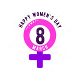 Vector illustration of stylish 8 march womens day background Royalty Free Stock Photography