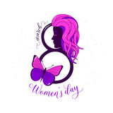 Vector illustration of stylish 8 march womens day background Royalty Free Stock Photo