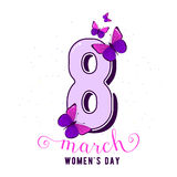 Vector illustration of stylish 8 march womens day background Stock Photography