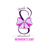 Vector illustration of stylish 8 march womens day background Stock Photos